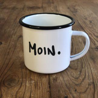 Tasse Schriftzug Moin.